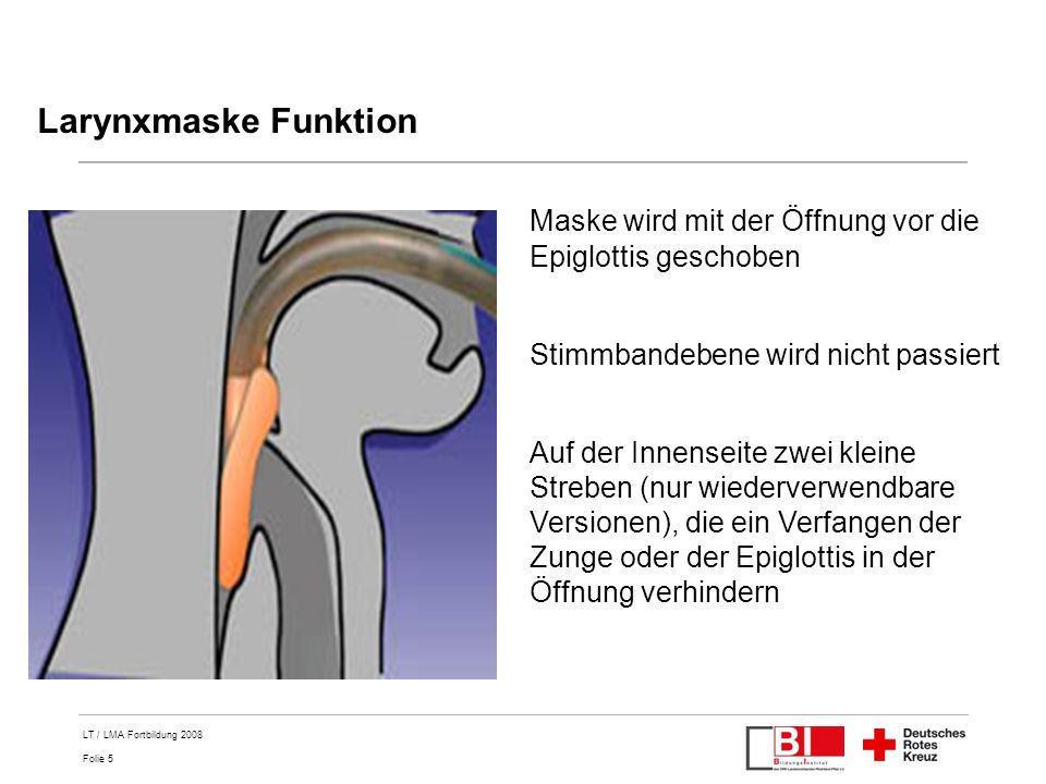 Regelhafte Anwendung von Larynxtubus (LT) oder Larynxmaske (LMA) bei ...