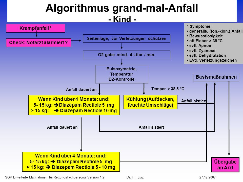 Algorithmus grand-mal-Anfall