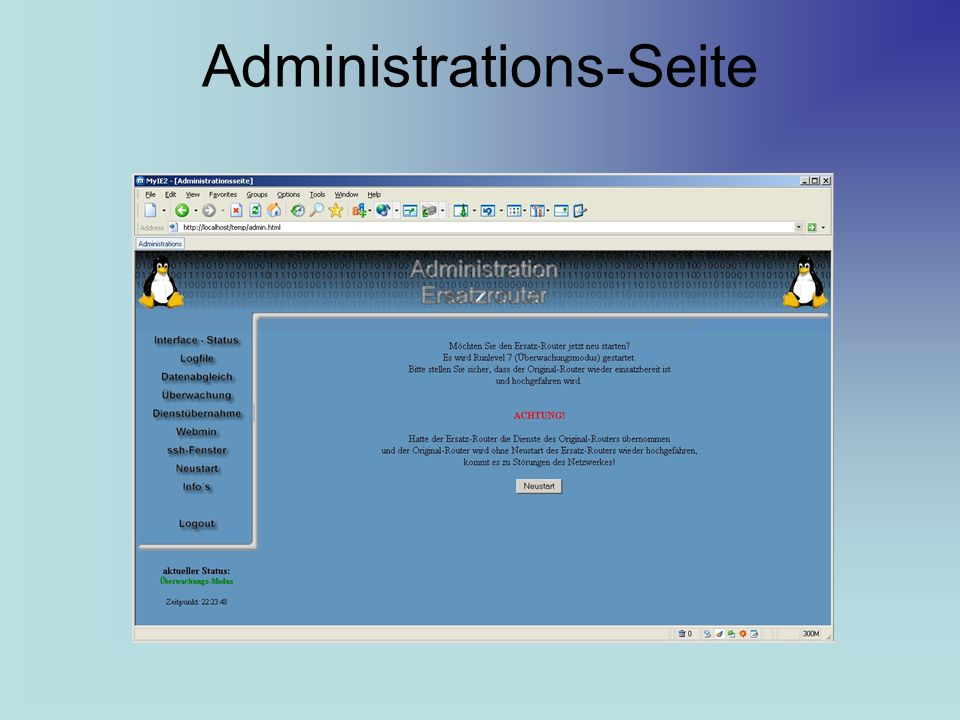 Administrations-Seite