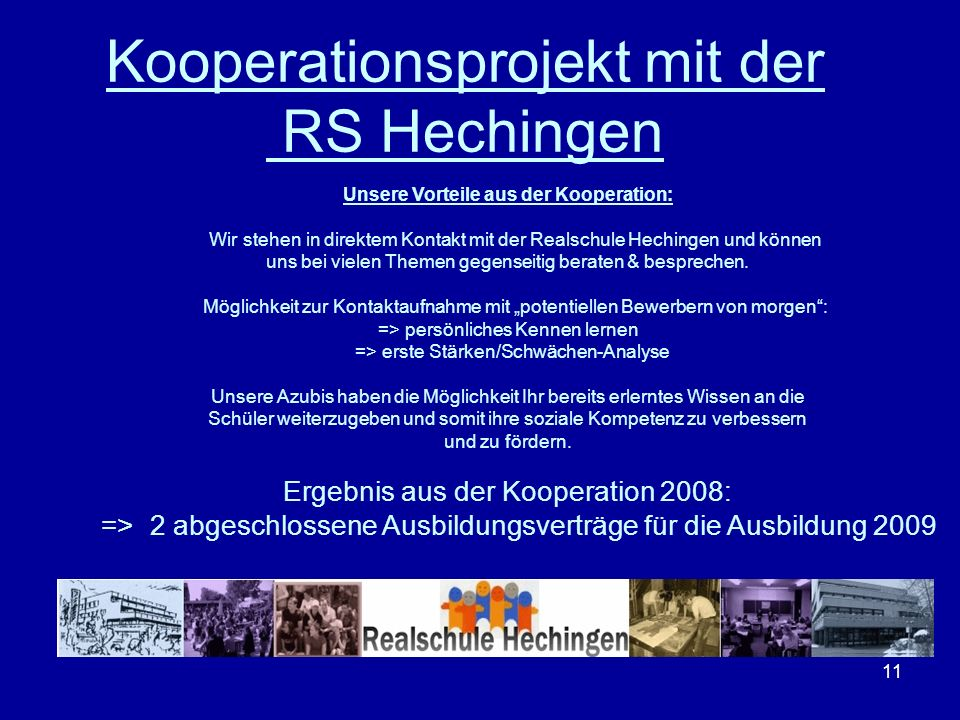 Kooperationsprojekt mit der RS Hechingen