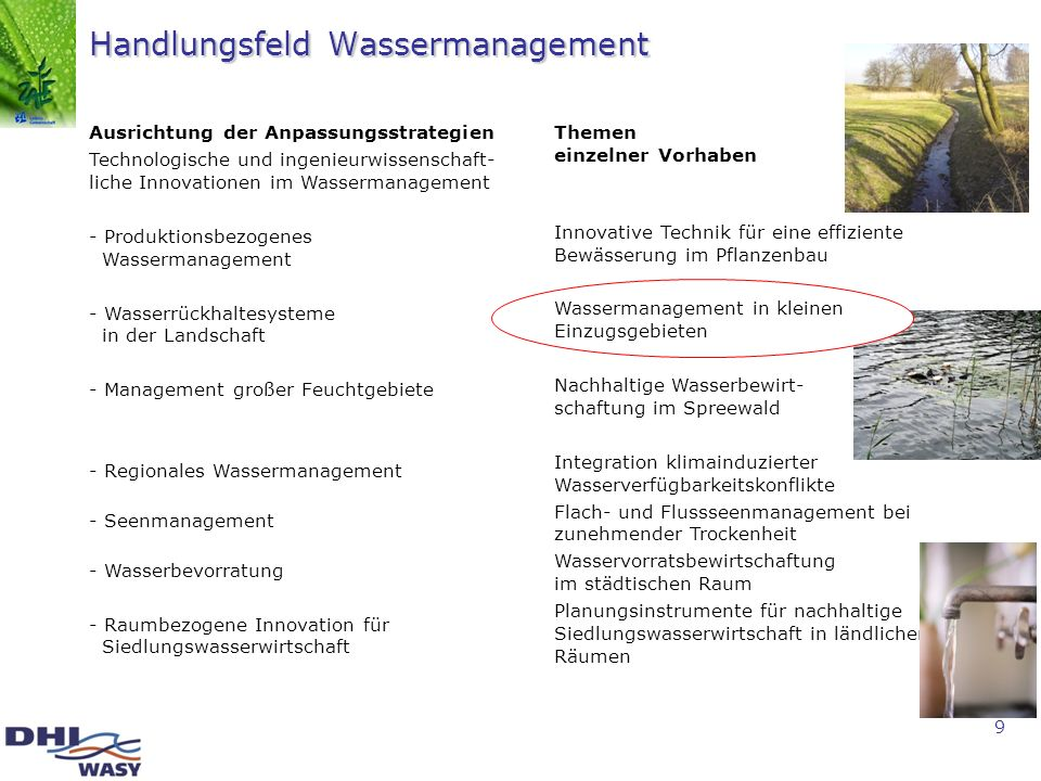 Handlungsfeld Wassermanagement