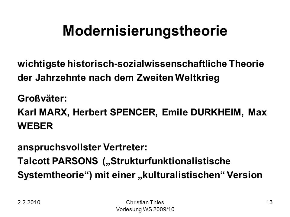Modernisierungstheorie