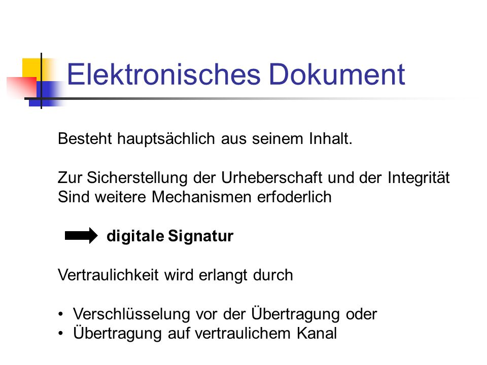 Elektronisches Dokument