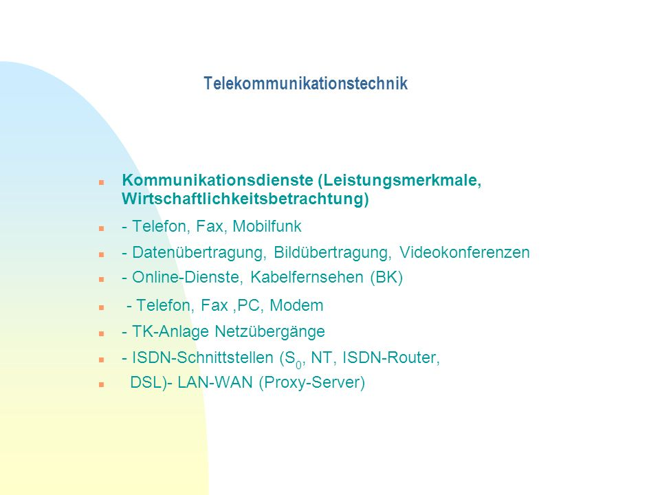 Telekommunikationstechnik