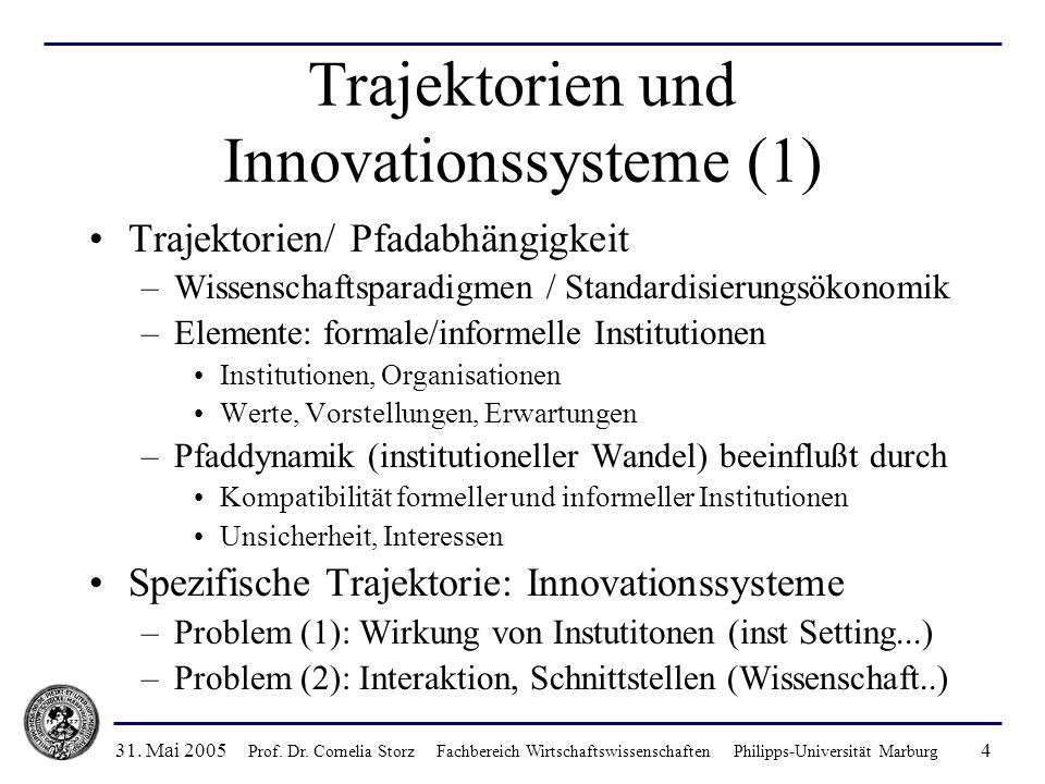 Trajektorien und Innovationssysteme (1)