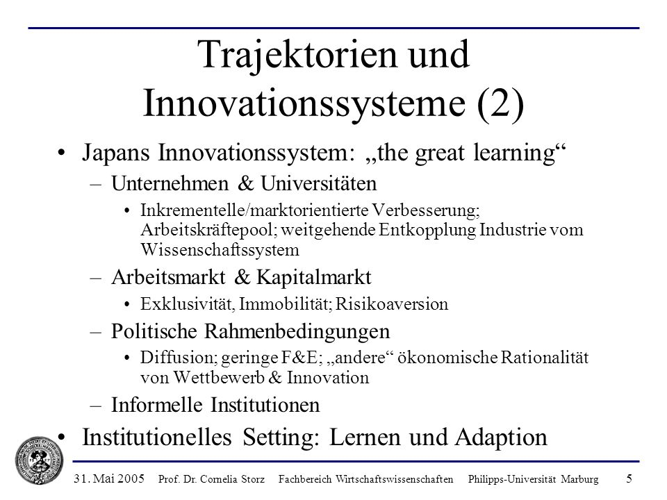 Trajektorien und Innovationssysteme (2)