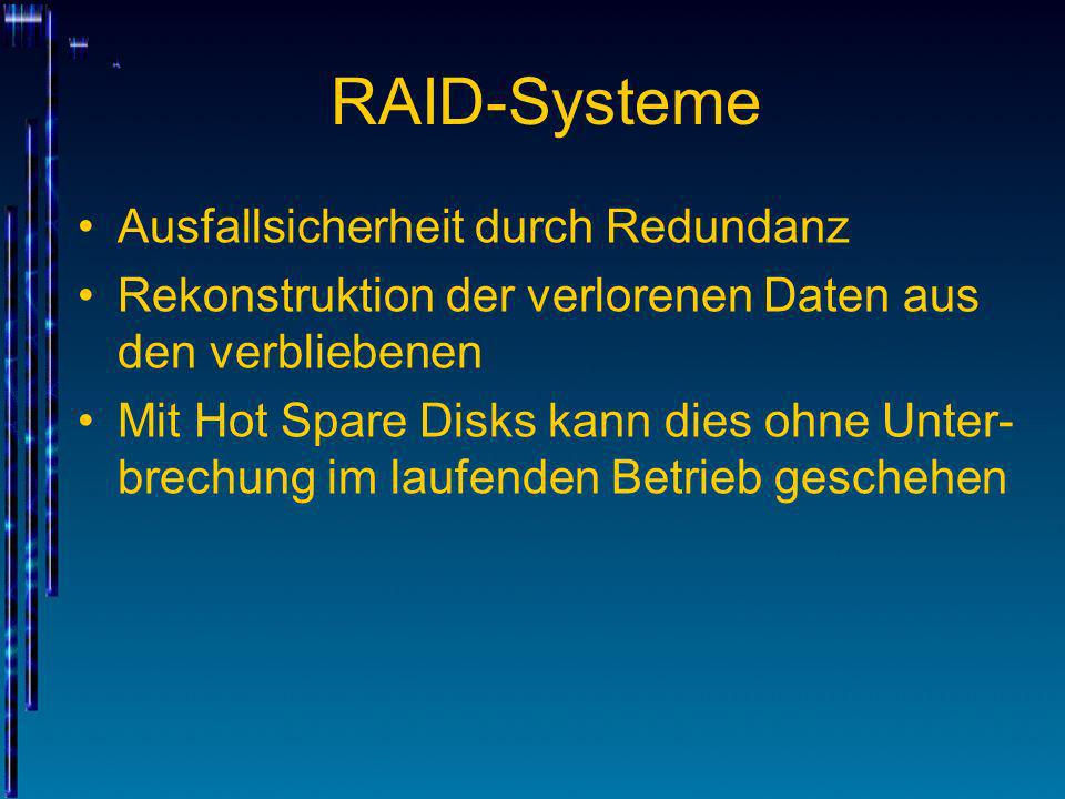 RAID-Systeme Ausfallsicherheit durch Redundanz