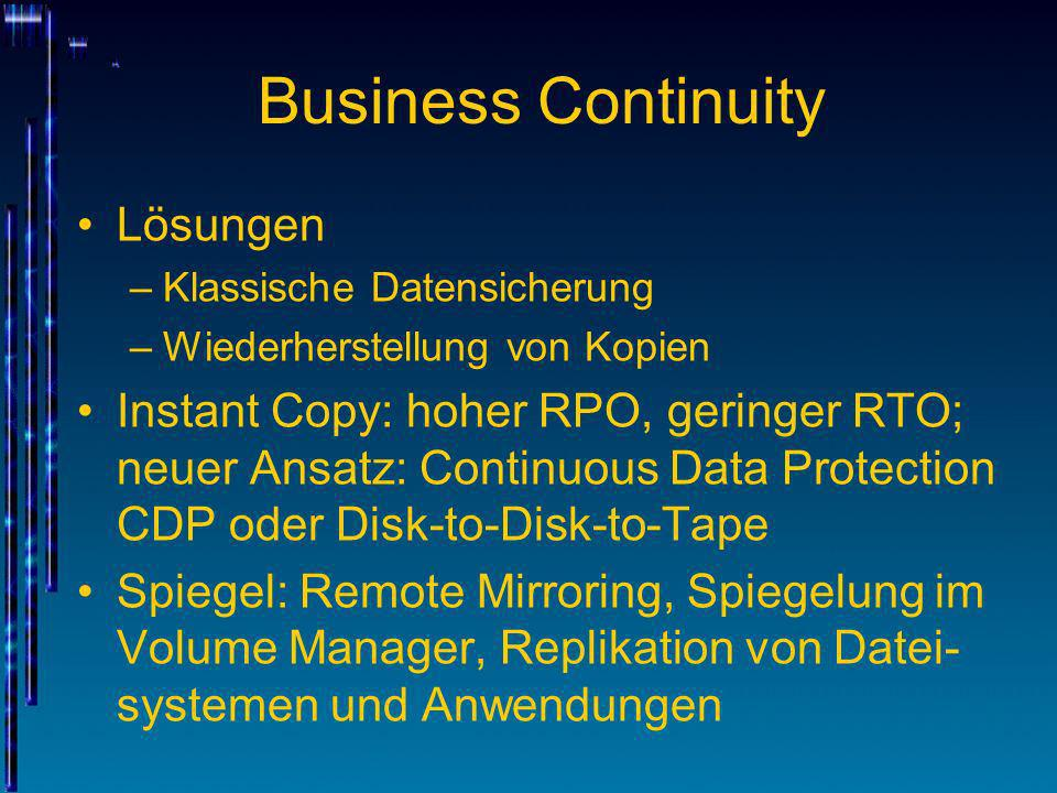 Business Continuity Lösungen
