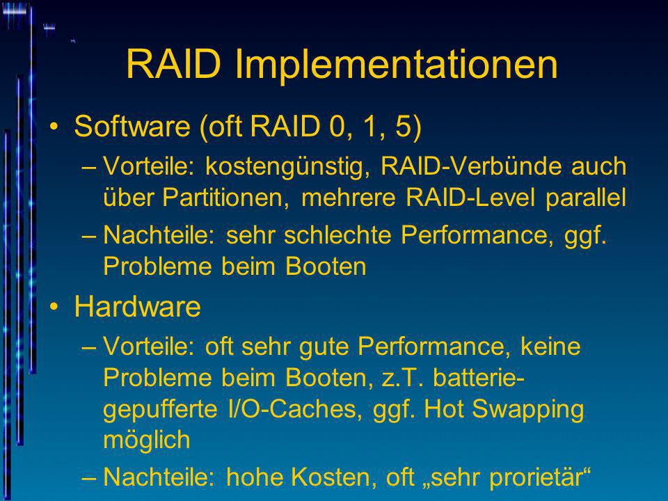 RAID Implementationen
