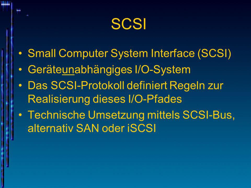 SCSI Small Computer System Interface (SCSI)