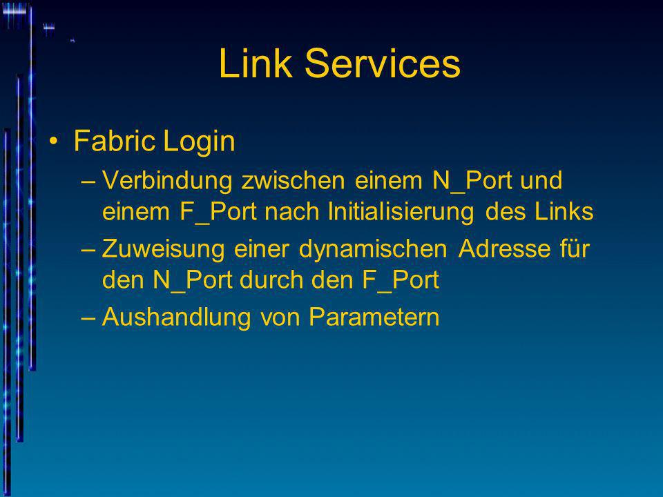 Link Services Fabric Login