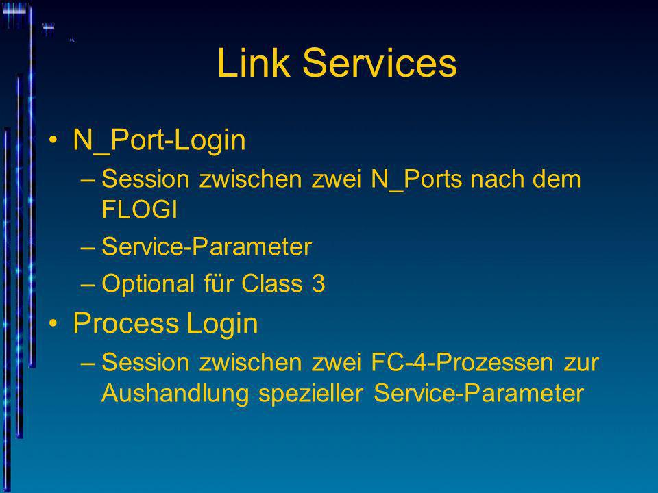 Link Services N_Port-Login Process Login