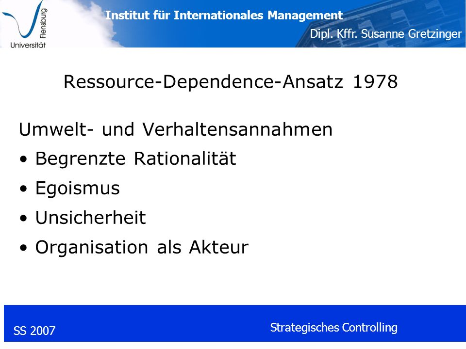 Ressource-Dependence-Ansatz 1978