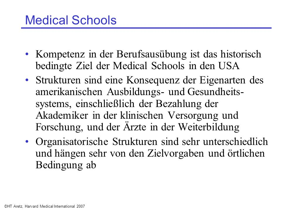 ©HT Aretz, Harvard Medical International 2007
