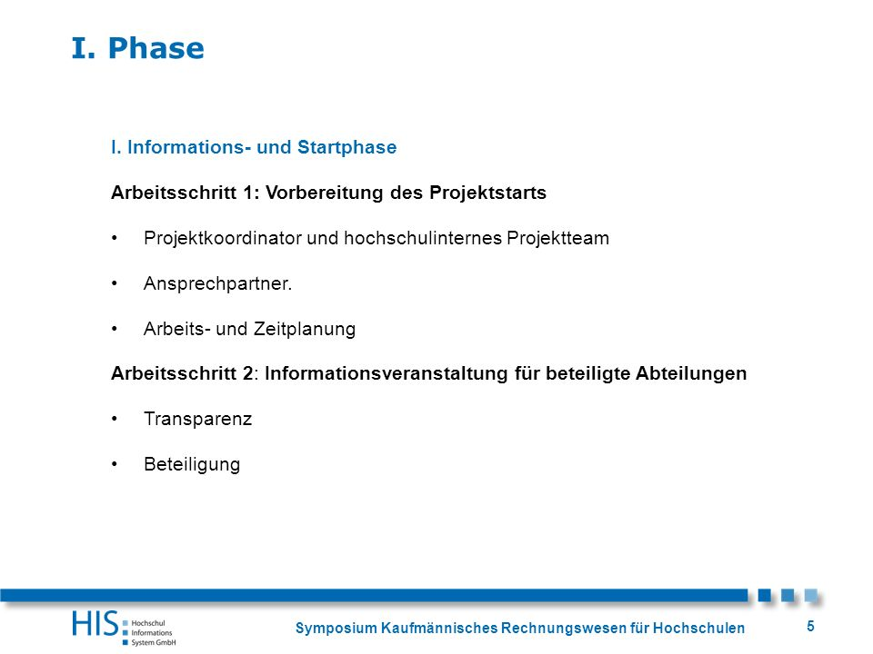 I. Phase I. Informations- und Startphase