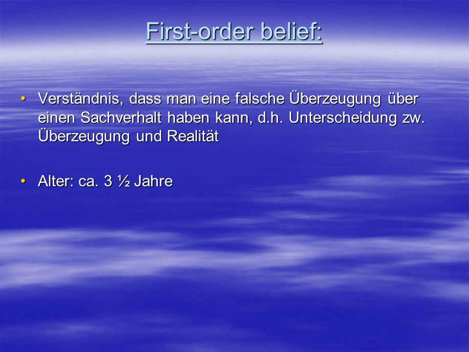 First-order belief: