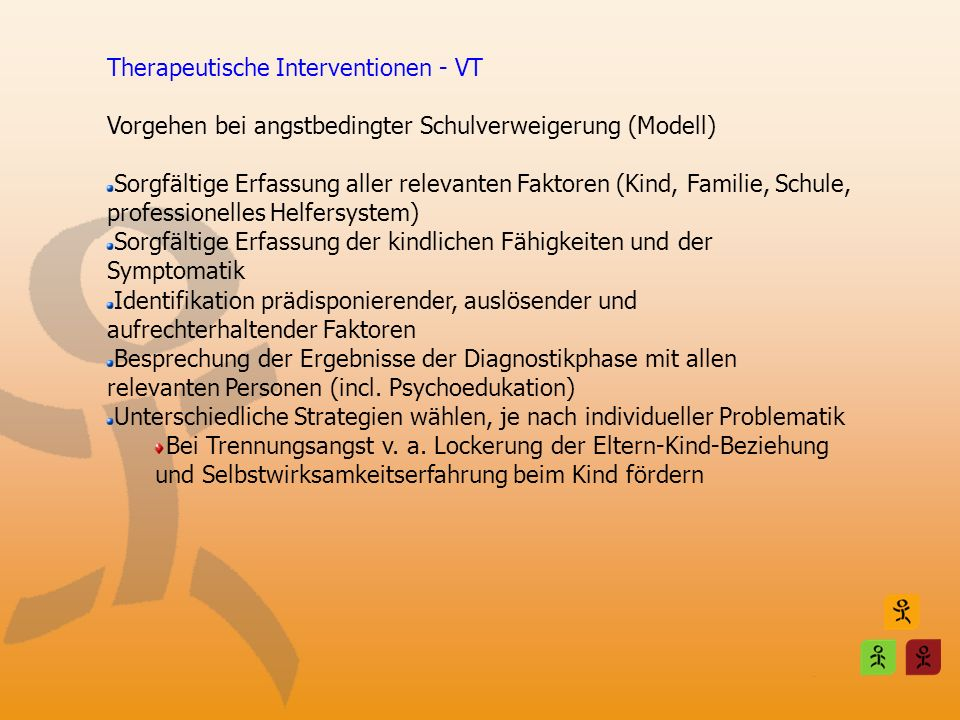 Therapeutische Interventionen - VT