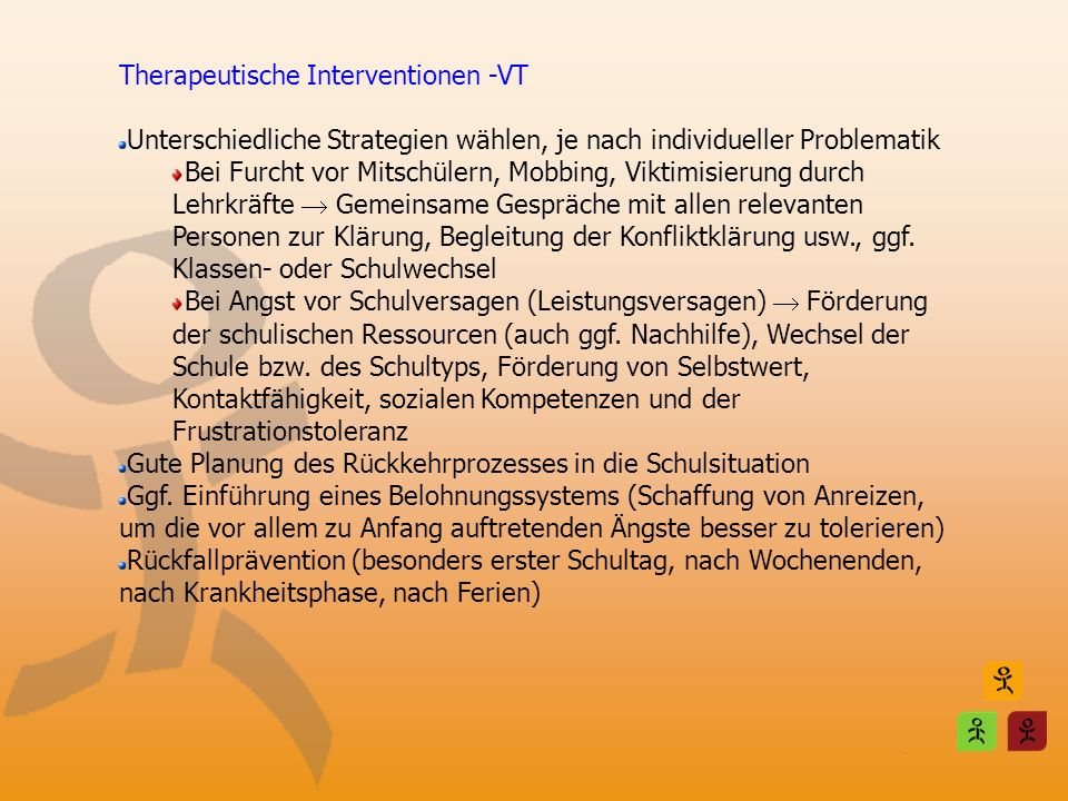 Therapeutische Interventionen -VT