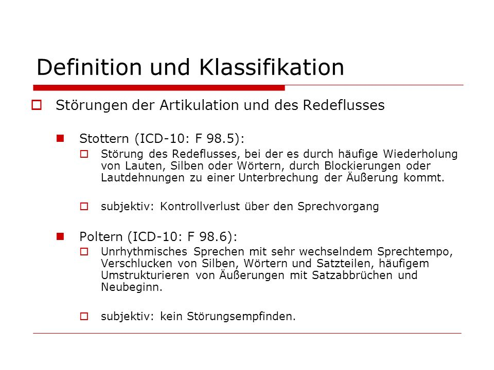 Definition und Klassifikation
