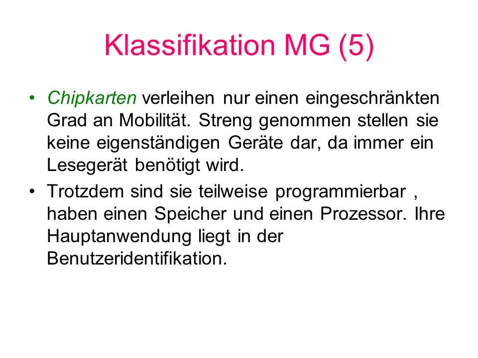 Klassifikation MG (5)