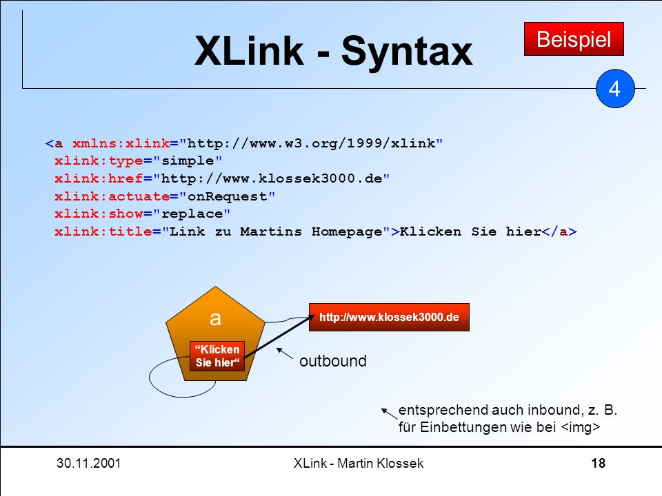 XLink - Syntax Beispiel 4 a outbound