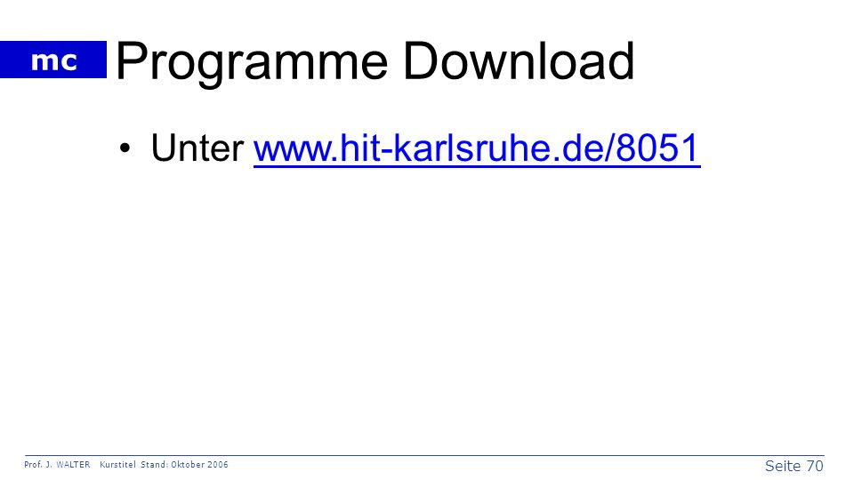 Programme Download Unter