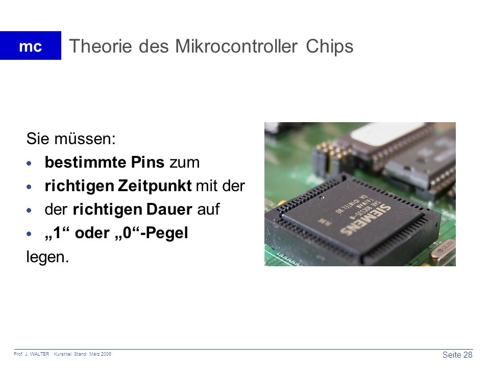 Theorie des Mikrocontroller Chips