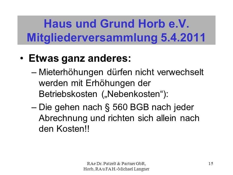 Haus Und Grund Horb E V Mitgliederversammlung Ppt Video Online