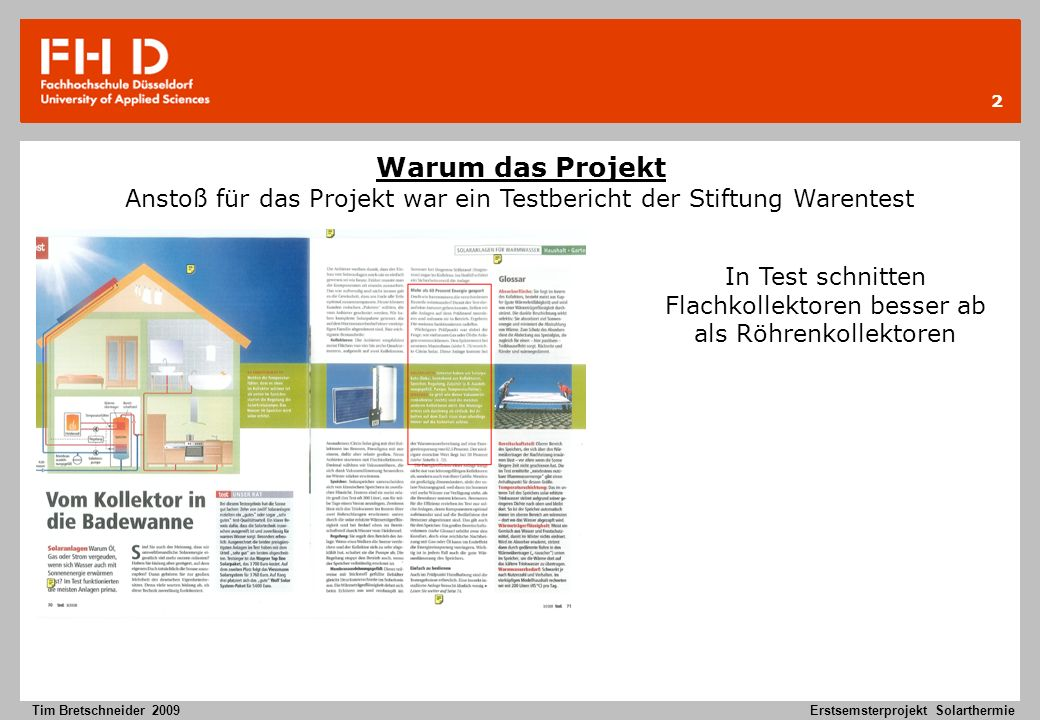 Erstsemesterprojekt Solarthermie Ppt Herunterladen