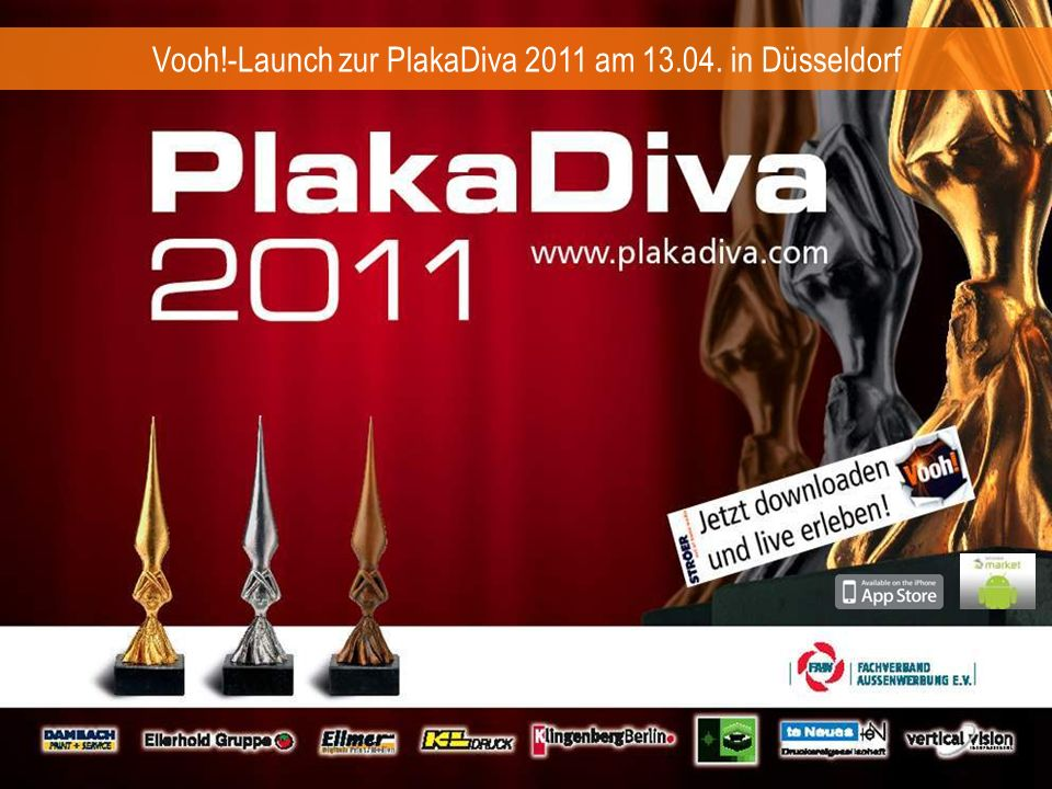 Vooh!-Launch zur PlakaDiva 2011 am 13.04. in Düsseldorf