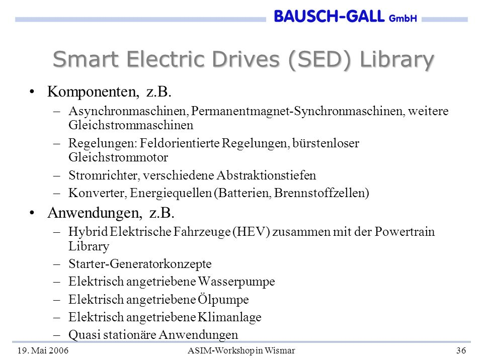 Smart Electric Drives (SED) Library