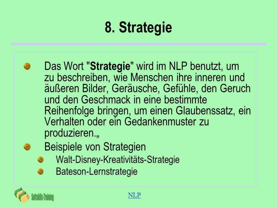 8. Strategie