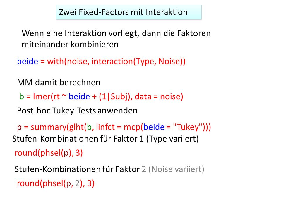 Zwei Fixed-Factors mit Interaktion