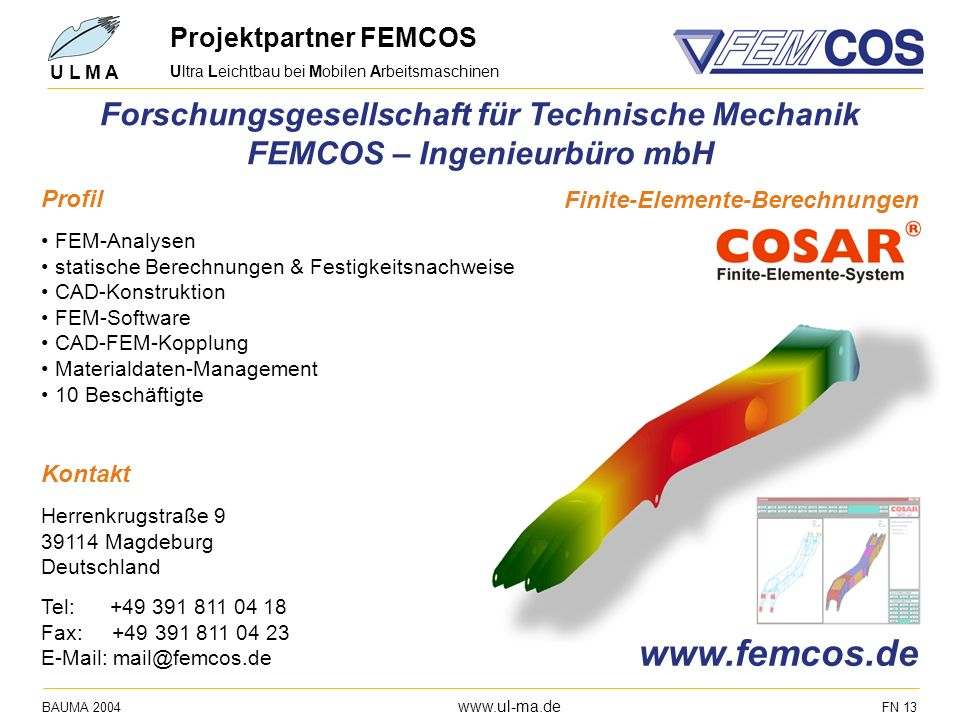Projektpartner FEMCOS