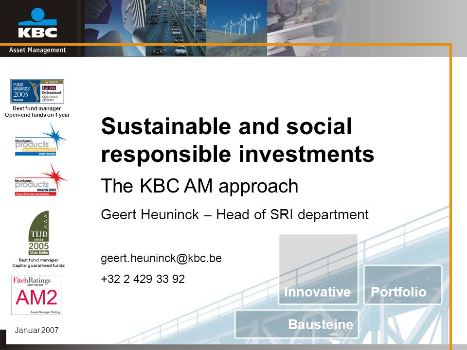Sustainable and social responsible investments