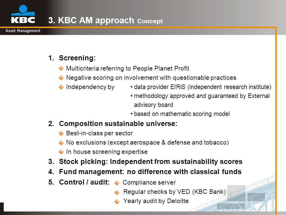 3. KBC AM approach Concept