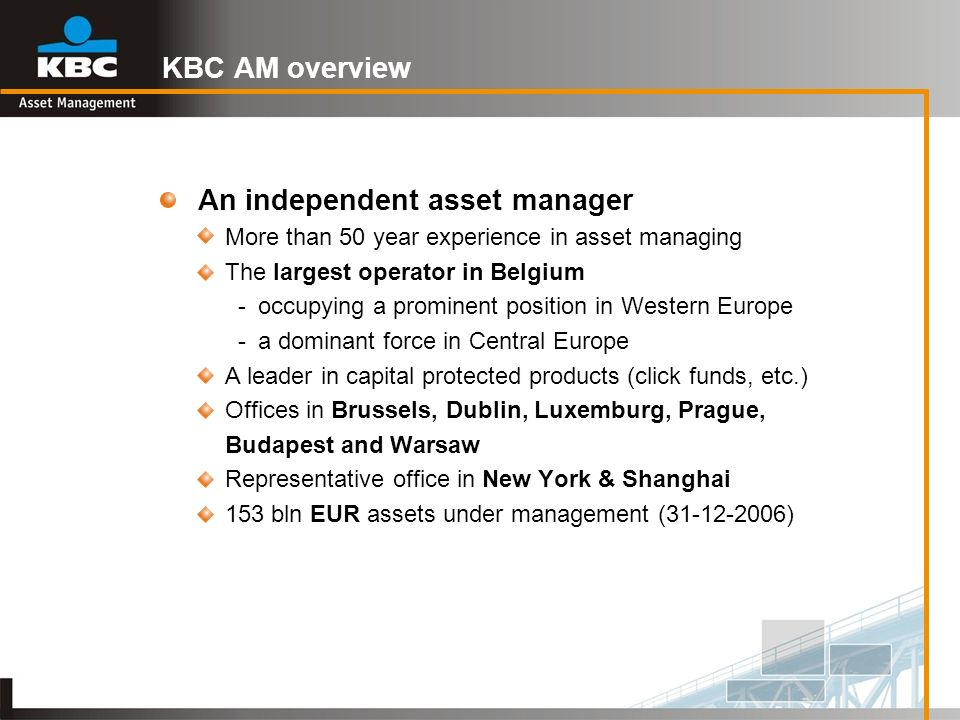 An independent asset manager