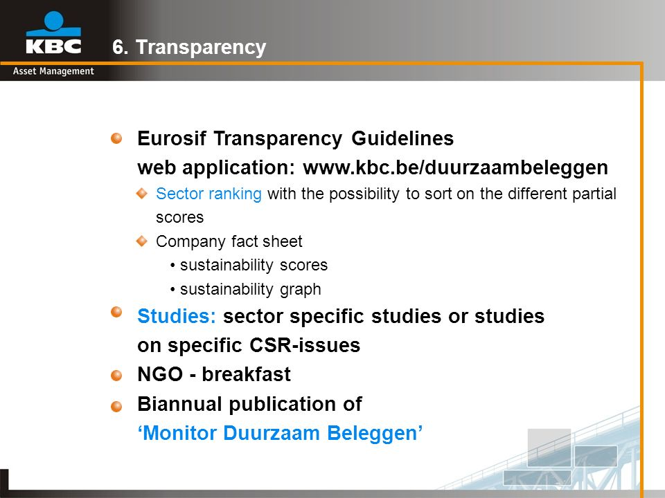 Eurosif Transparency Guidelines