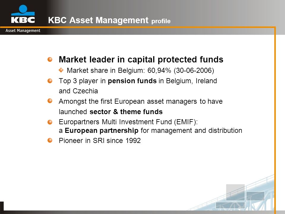 KBC Asset Management profile