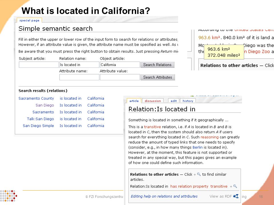 What is located in California