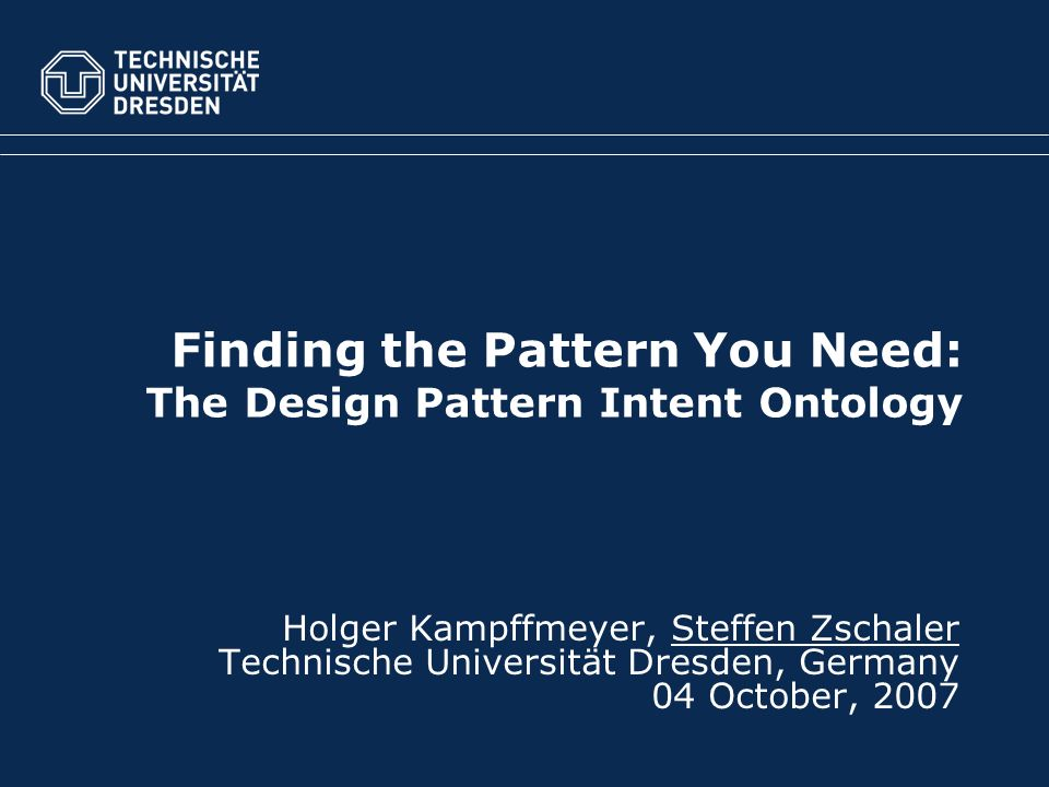Finding the Pattern You Need: The Design Pattern Intent Ontology