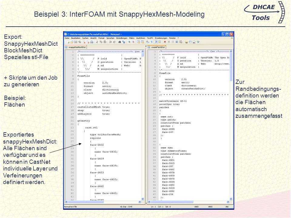 Beispiel 3: InterFOAM mit SnappyHexMesh-Modeling