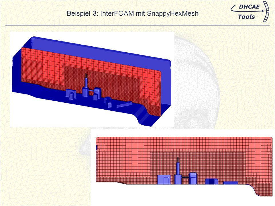 Beispiel 3: InterFOAM mit SnappyHexMesh
