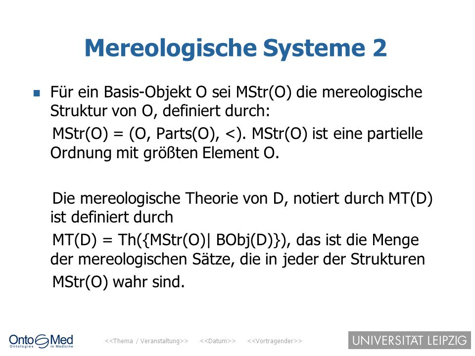 Mereologische Systeme 2