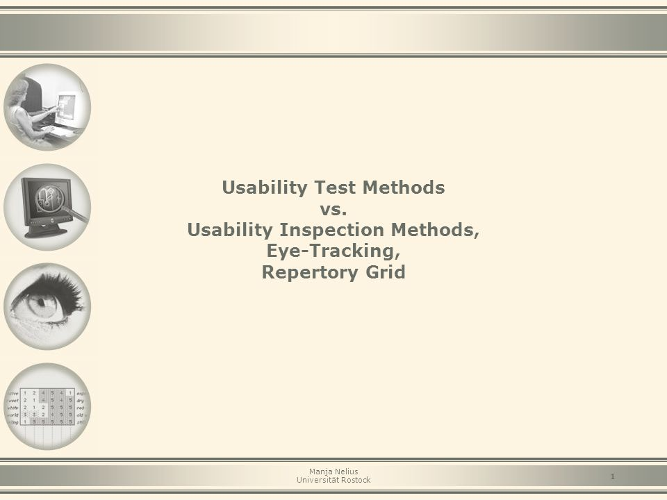Usability Test Methods vs