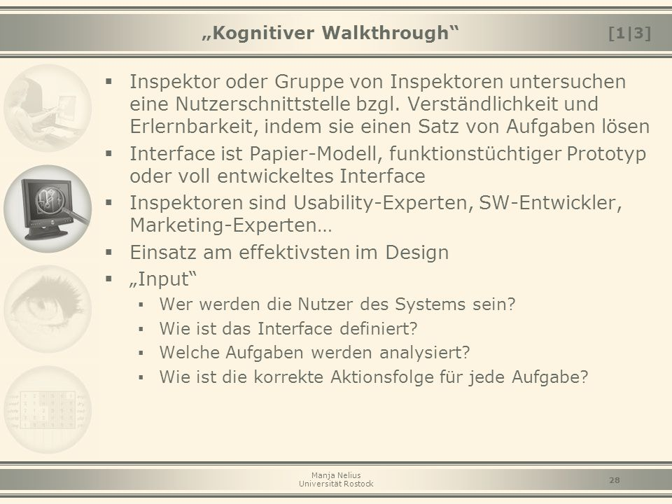 """Kognitiver Walkthrough"