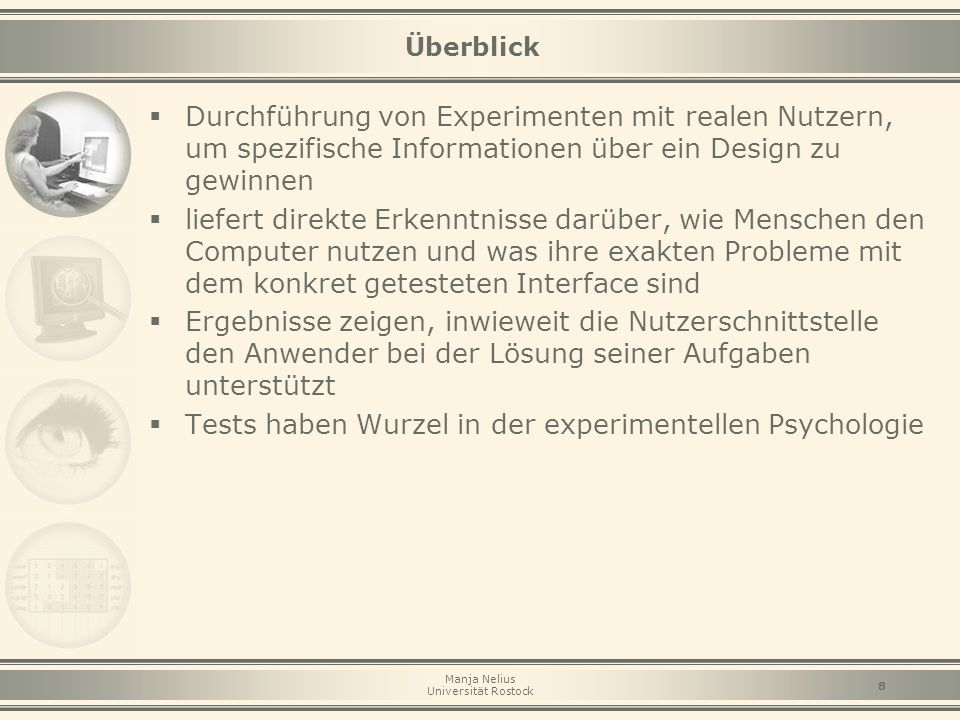 Tests haben Wurzel in der experimentellen Psychologie