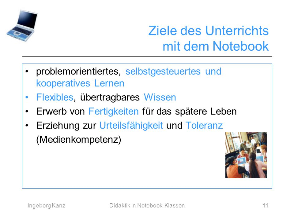 Notebook-Didaktik im Sprachunterricht - ppt herunterladen