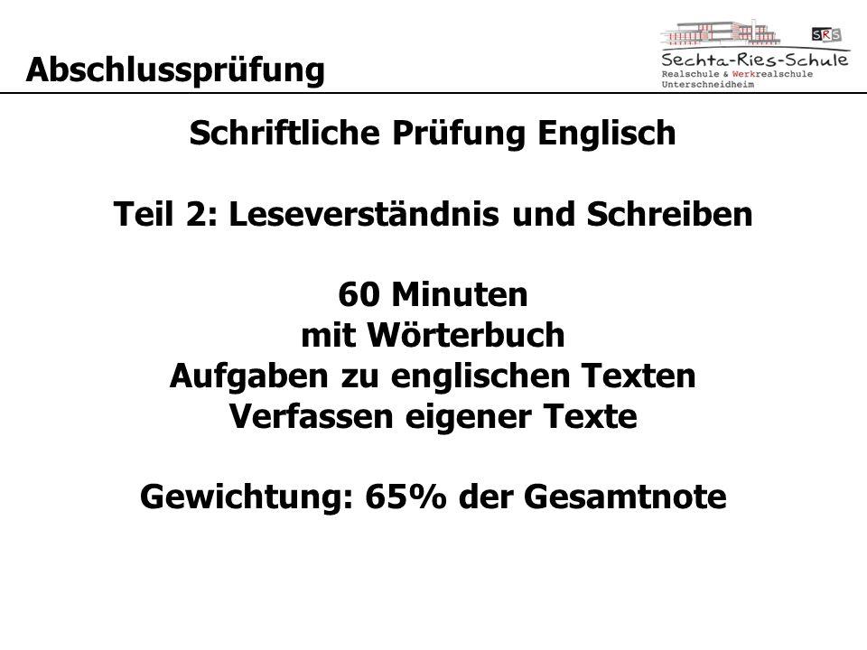 Hauptschulabschlussprüfung - ppt video online herunterladen