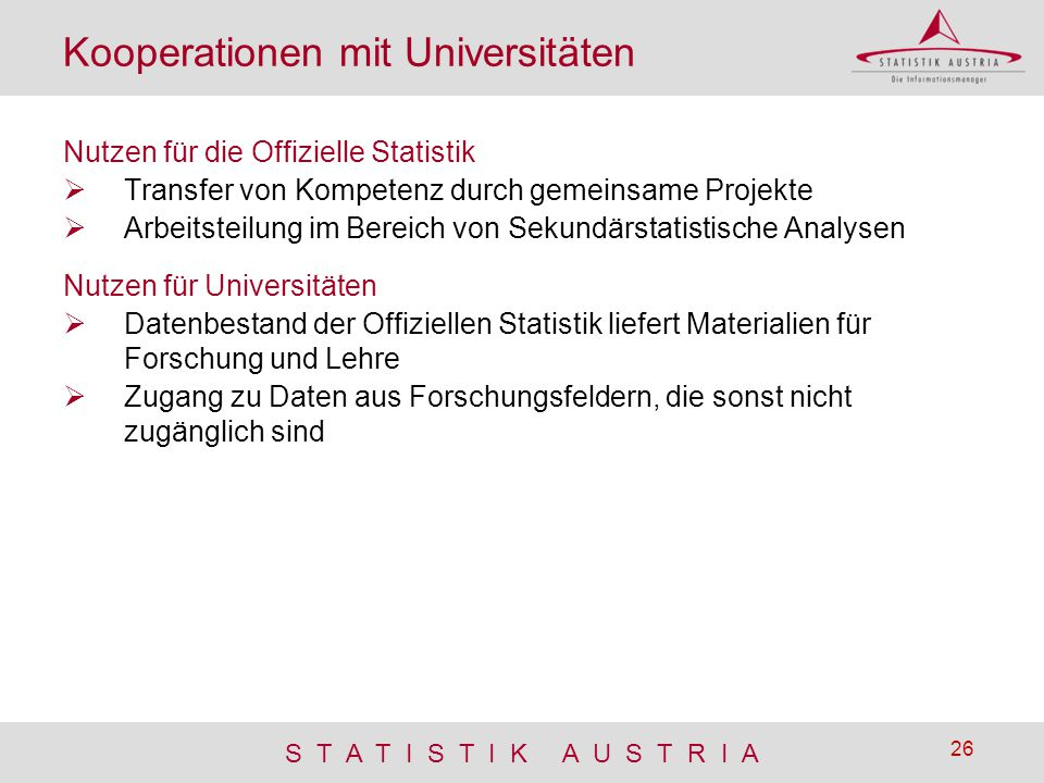 Kooperationen mit Universitäten
